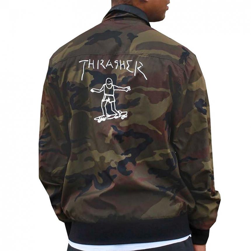 Prechodné bundy a vesty Thrasher Gonz Reversible coach jacket