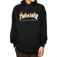 Mikiny Thrasher Flame mag hood