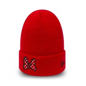 Čiapky New Era Minnie Mouse Kids Red Knit