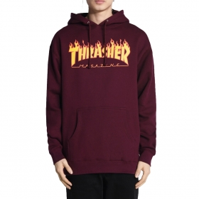 Mikiny Thrasher Flame Hood