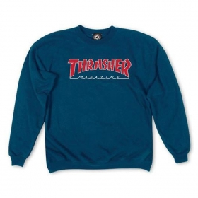 Mikiny Thrasher Outlined Logo Crew