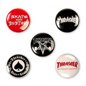 Ostatné Thrasher Logo Buttons
