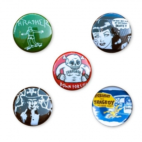 Ostatné Thrasher Usual Suspect Buttons