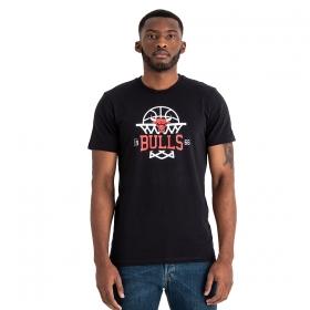 Tričká New Era NBA League net logo Chicago Bulls