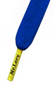Šnúrky Mr.Lacy Royal Blue/Yellow Tip