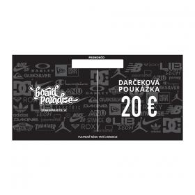 Darčekové poukážky Board Paradise Darčeková Poukážka 20€