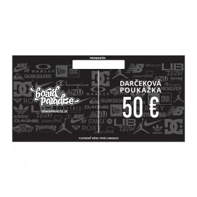 Darčekové poukážky Board Paradise Darčeková Poukážka 50€