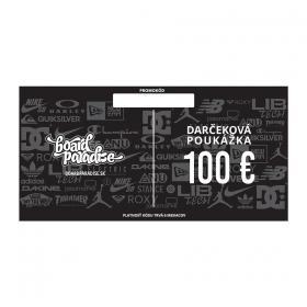 Darčekové poukážky Board Paradise Darčeková Poukážka 100€
