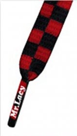Šnúrky Mr.Lacy Red/Black Checker