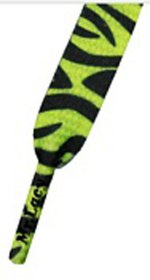 Šnúrky Mr.Lacy Neon Lime Yellow Zebra